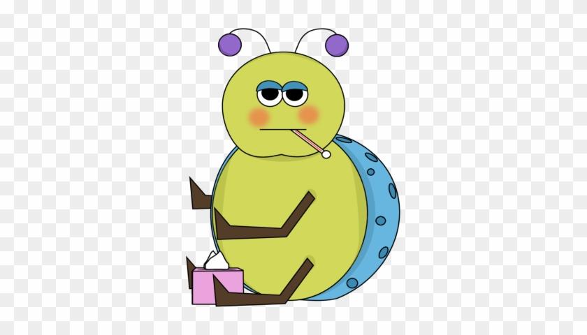 Flu Bug Clip Art - Stomach Bug Clip Art #7560