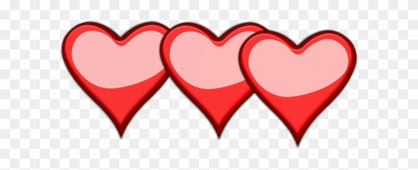 3 Hearts Clipart - 3 Hearts Clipart #7565