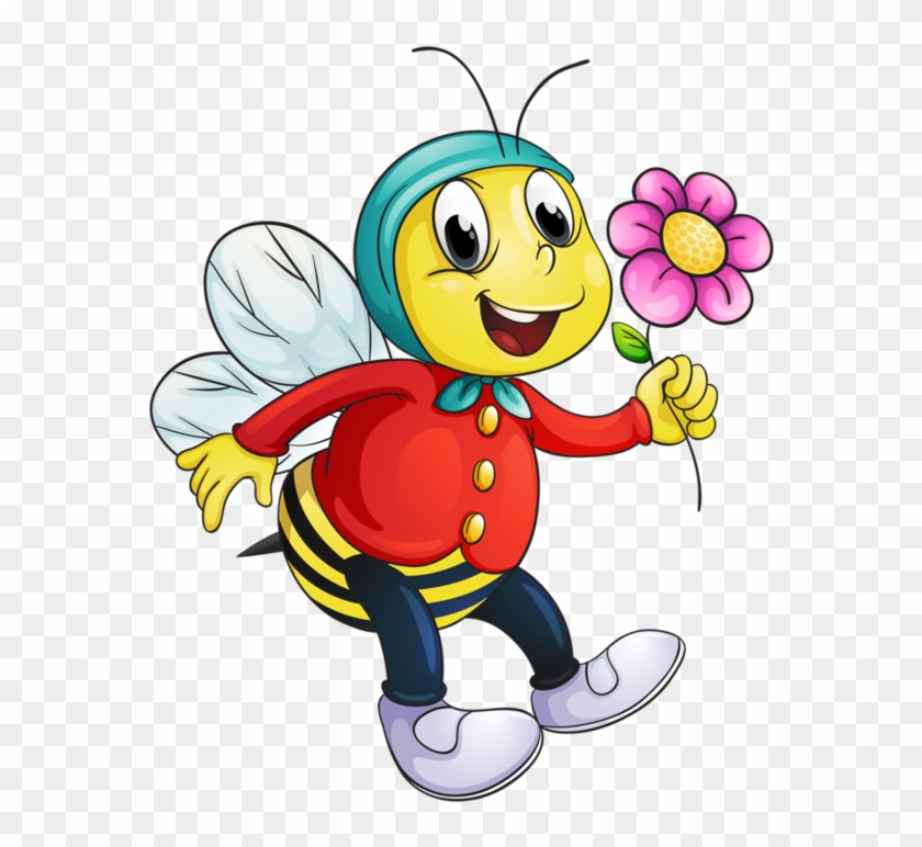 Bee Clipart - Bees Cartoon Images And Flowers #7579