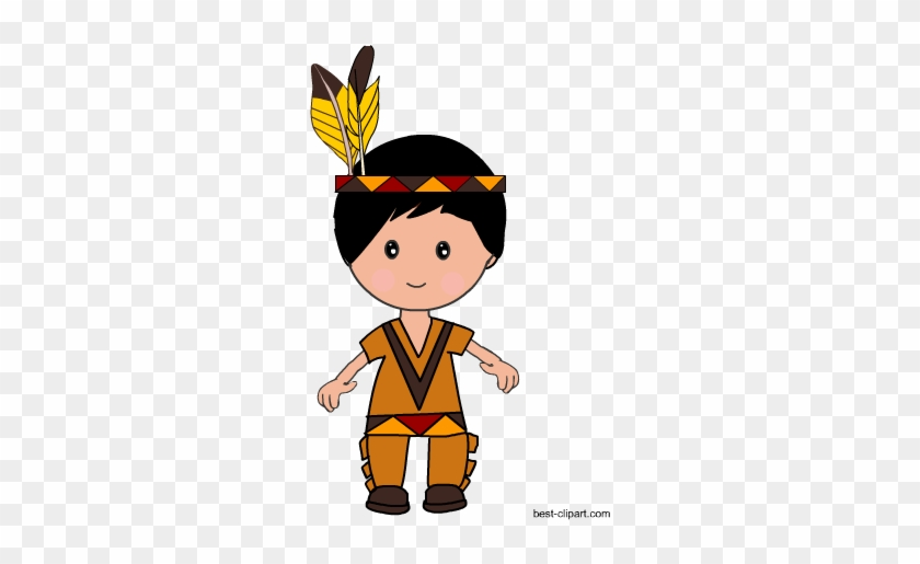 Cute Native American Boy, Free Thanksgiving Clip Art - Clip Art #7588