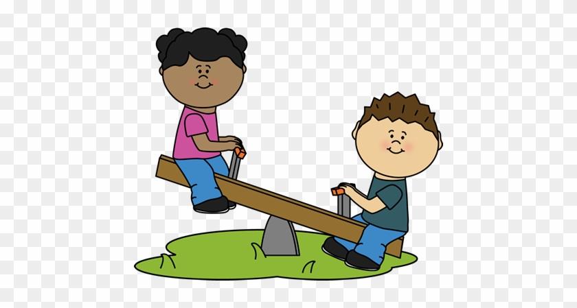 Children On A Teeter Totter Clip Art - Teeter Totter Yeeter Yotter #7595