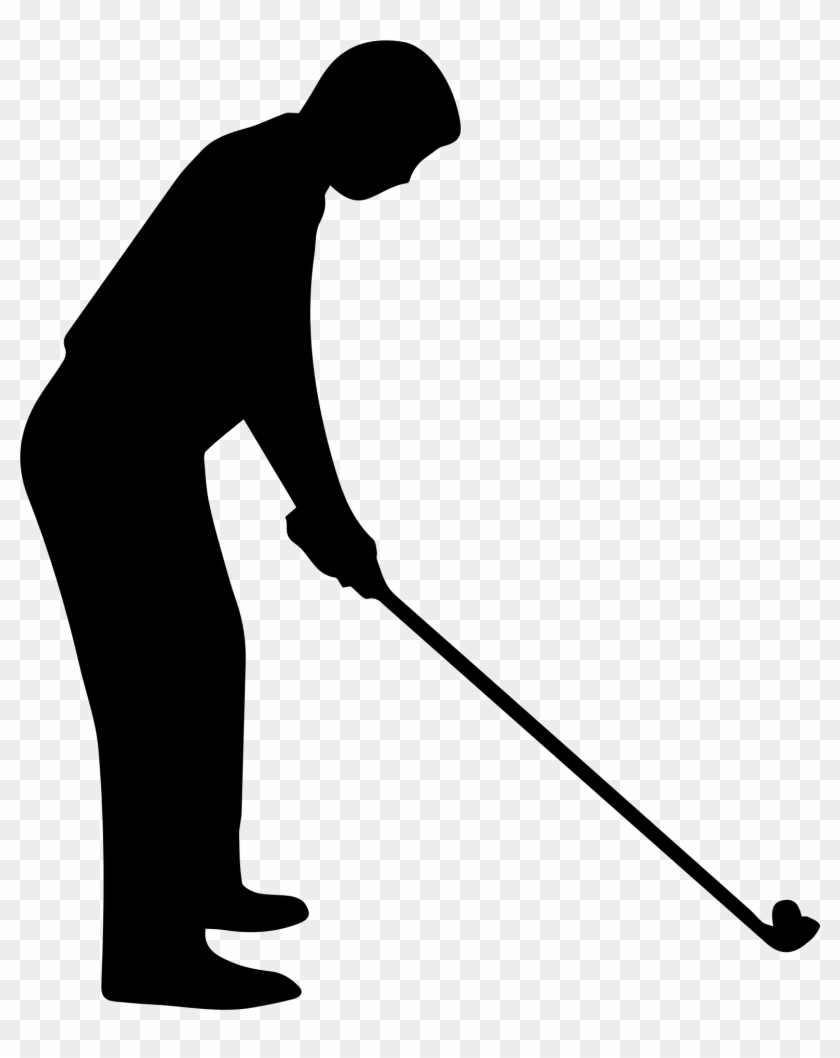 Fancy Idea Golf Clipart Black And White Golfer - Black And White Golfer #742