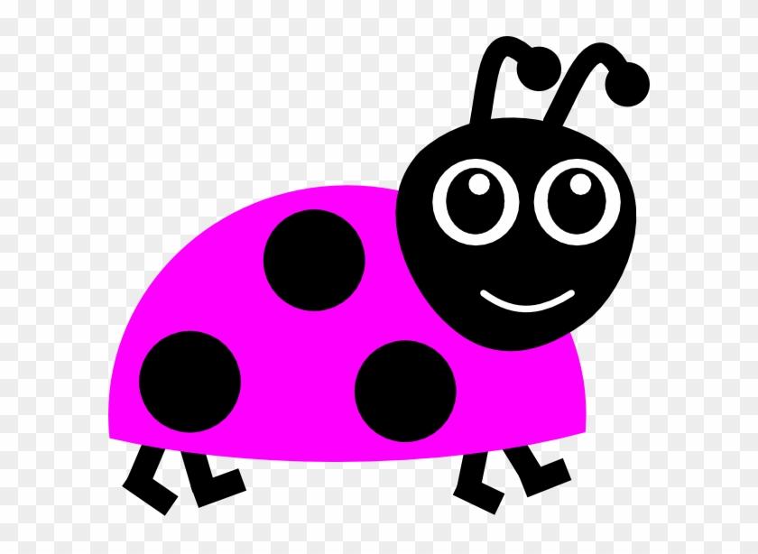 Pink Ladybug Clip Art At Clker - Ladybug Cartoon #7612
