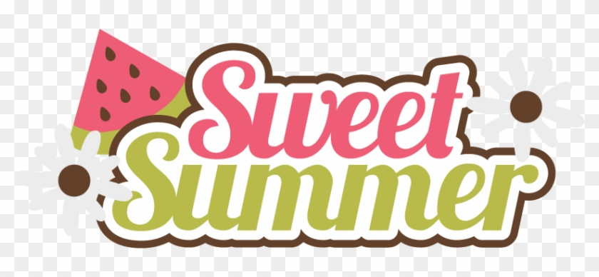 Sweet Summer Svg Scrapbook Title Watermelon Svg Files - Sweet Summer #7624