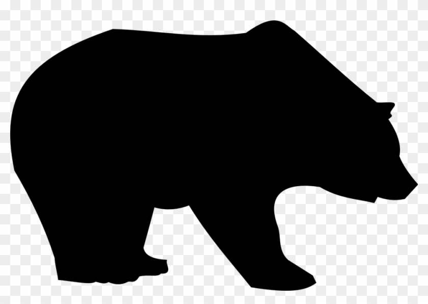 "Black Bear Silhouette Clip Art €"" 101 Clip Art - Clip Art Black Bear #7661"