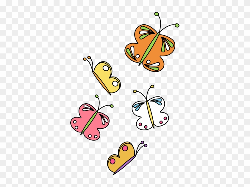 Flying Butterflies - Flying Butterflies Clip Art #7665