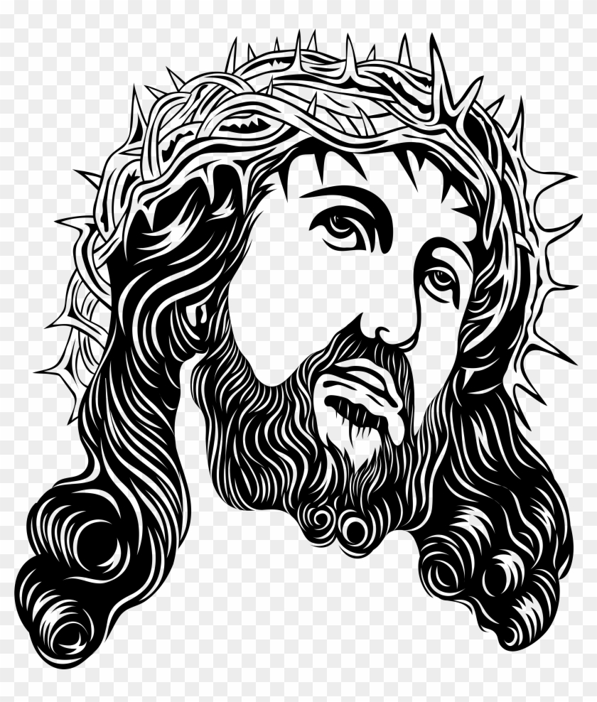 Jesus Christ With Crown Of Thorns Png Clip Art - Jesus #7701