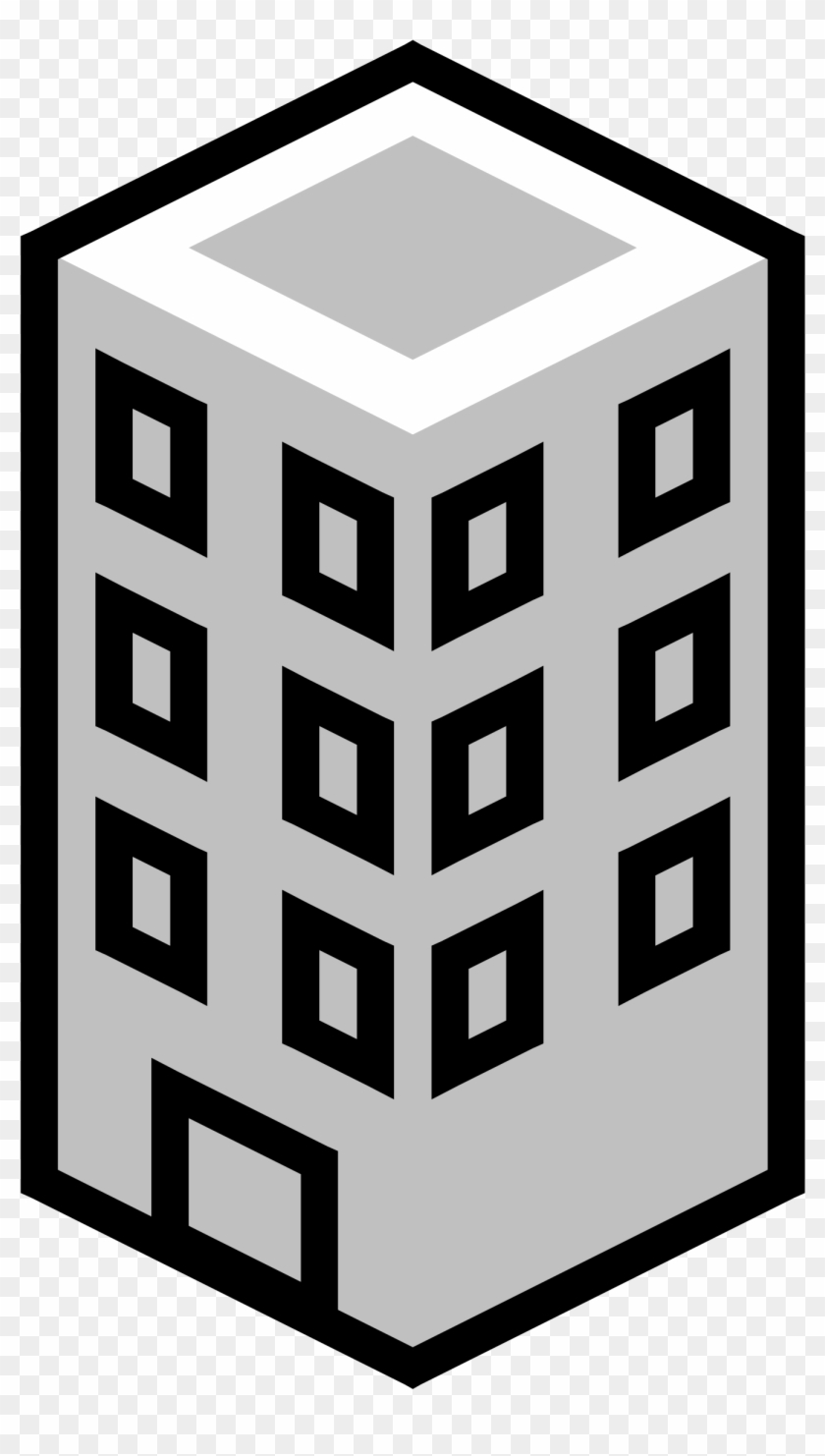Office Building Gray Clip Art - Department Clipart #763