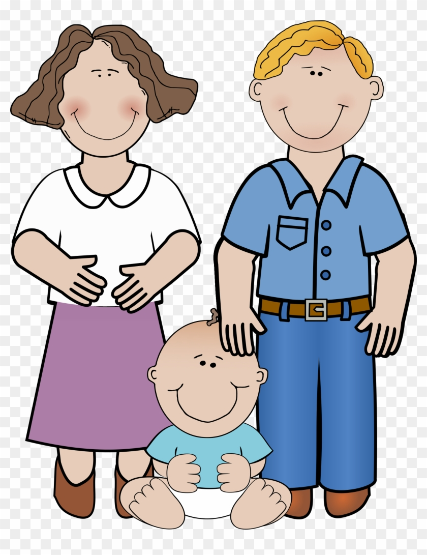 Family With Baby Clipart #7700