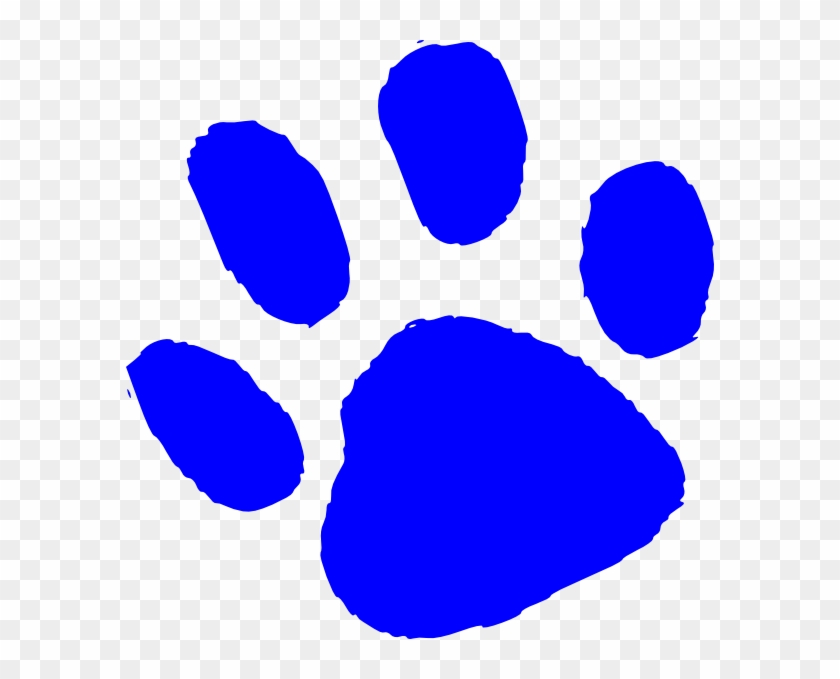 Bear Paw Small Clip Art At Vector Clip Art - Blue Tiger Paw Print #7696