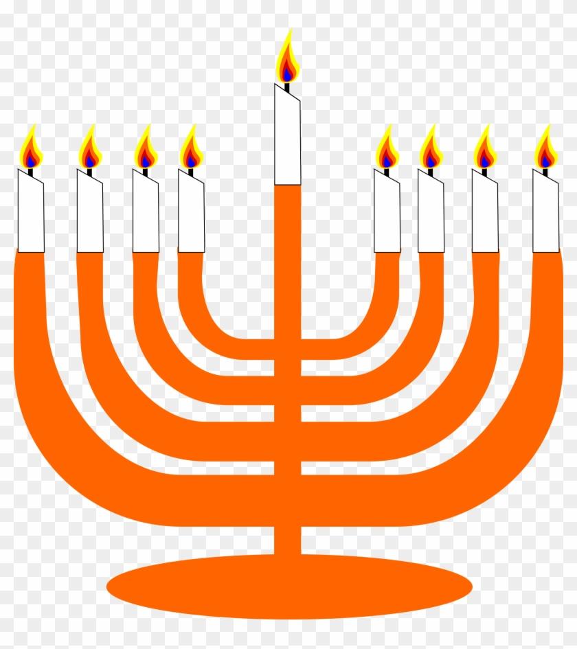 Hanukkah Thanksgiving Clip Art - Menorah Clip Art #7729