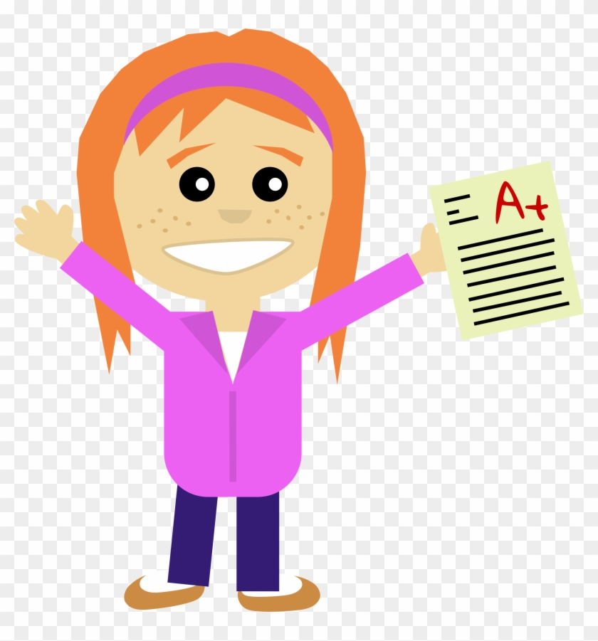 Happy Girl Student Clipart - Happy Student Clipart #7732