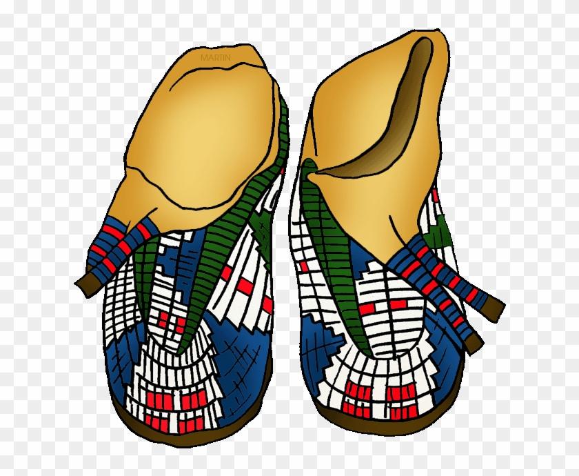 Plains Moccasins - Native Americans Arts & Crafts #7733