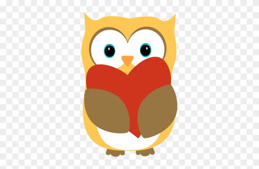 Owl Clip Art Owl Images - Owl Holding A Heart #7749