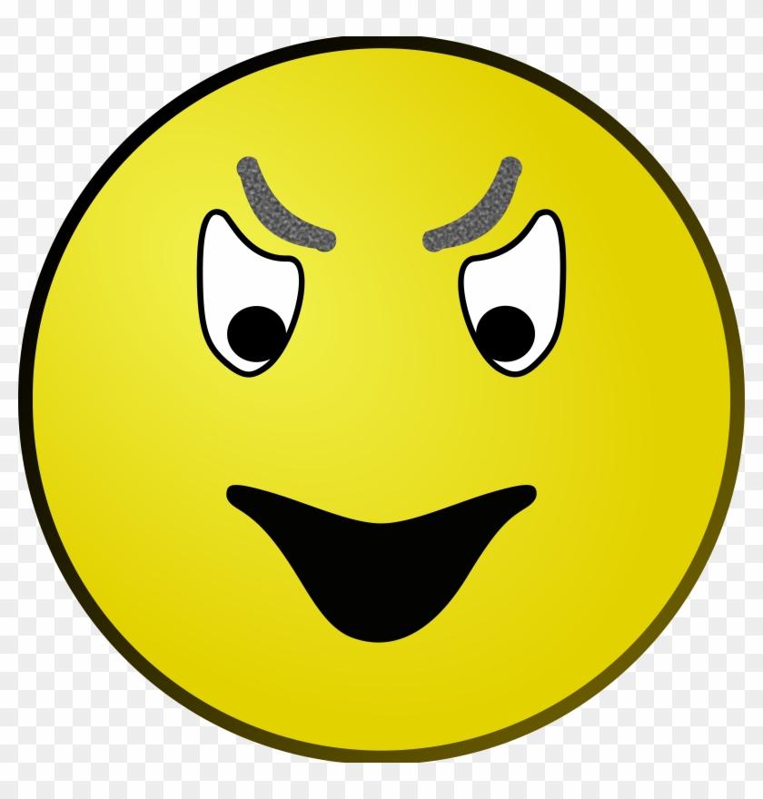 Evil Face Clipart - Evil Face Clipart #7783