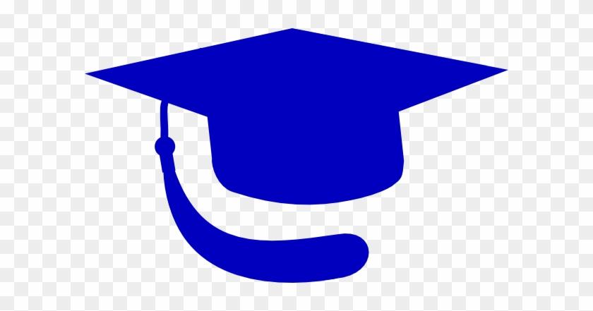 Graduation Cap Vector Blue #797
