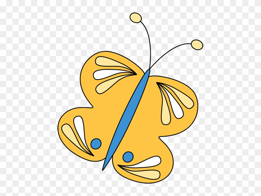 Yellow Butterfly - My Cute Graphics Transparent Butterfly #7789