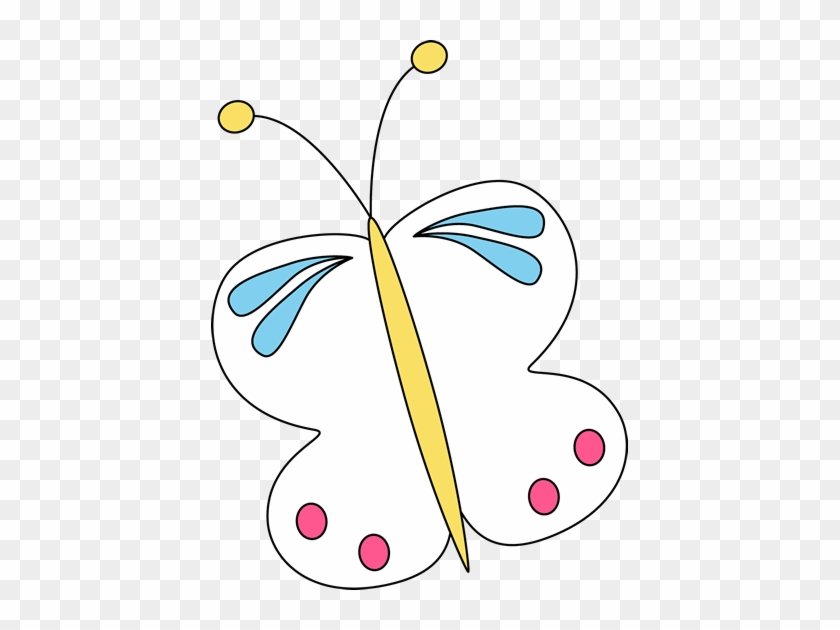 White Butterfly - Clip Art #7795