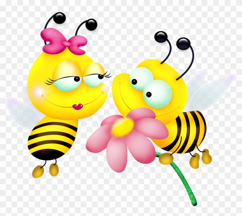 Yellow Bumble Bees Boy And Girl Clip Art - 2 Bee Clipart #7828