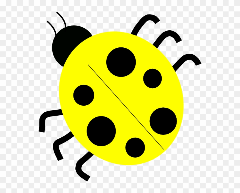 Yellow Ladybugs Clip Art At Clker - Ladybug Black And White #7821