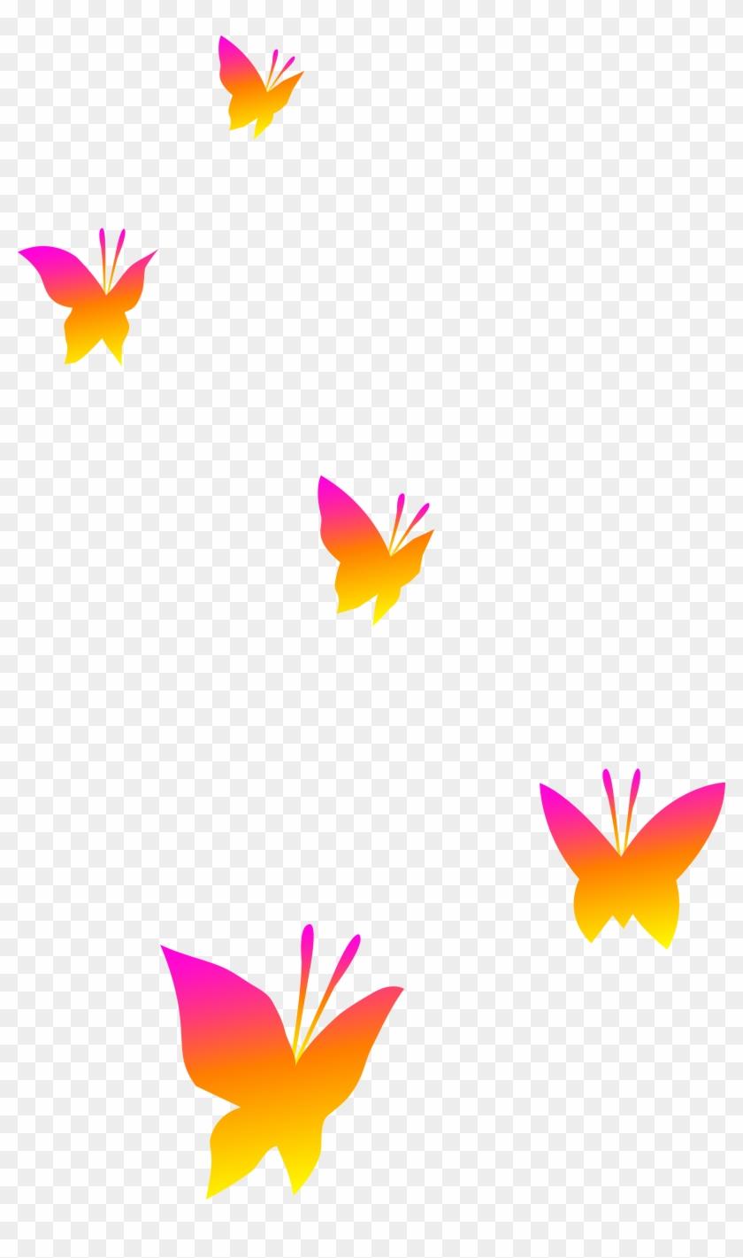 Nature Clipart Butterfly - Cartoon Butterflies No Background #7843