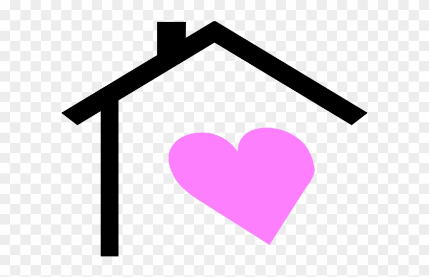 House Roof And Heart Clip Art At Clker Com Vector Clipart - House With A Heart #7829
