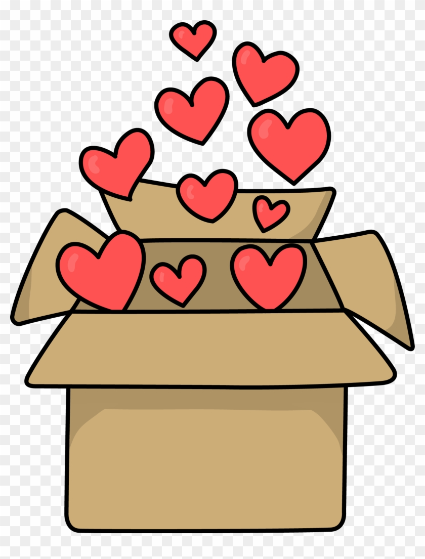 Image For Free Box With Hearts Clip Art - Dog #7839