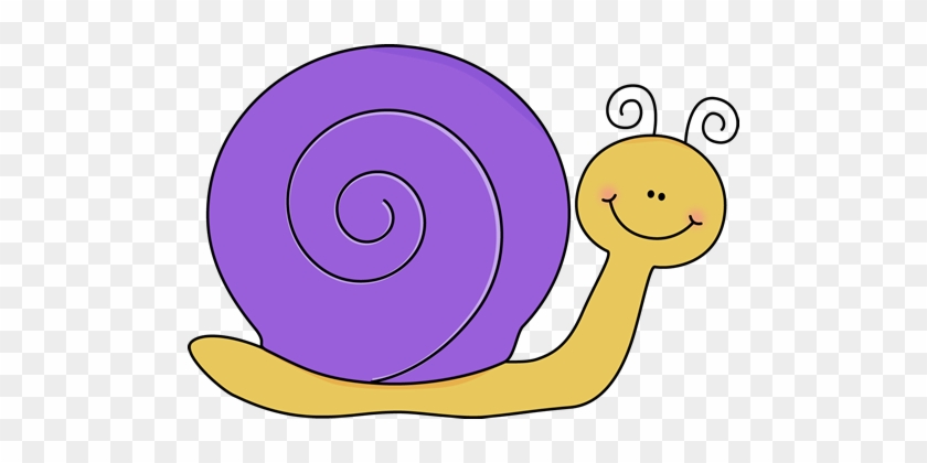 Yellow And Purple Snail - Snail Clipart #7870