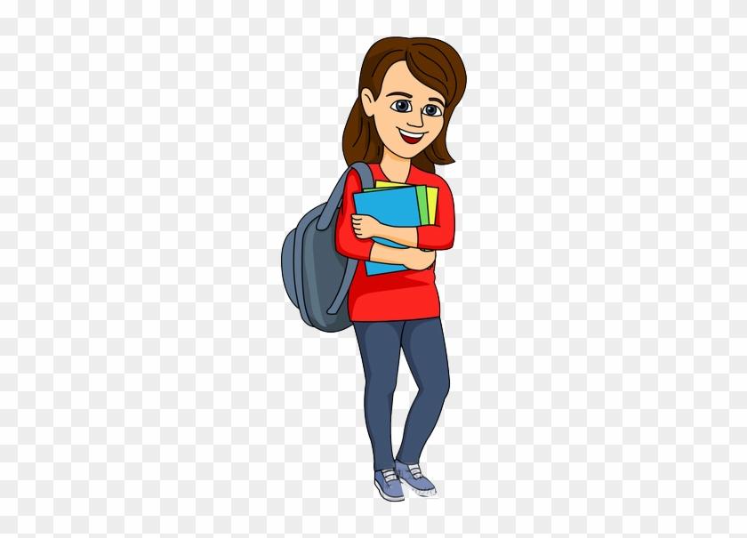Female College Student Clipart - College Student Clip Art #7914