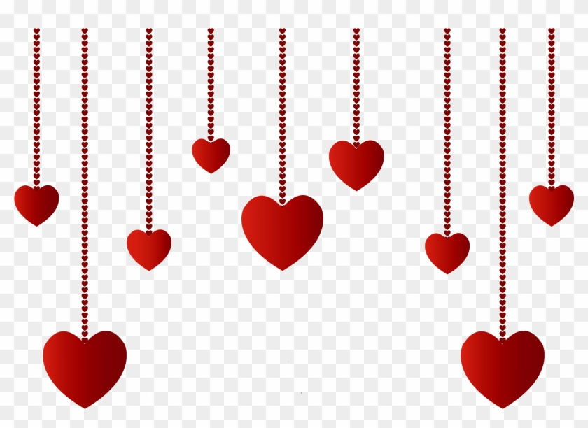 Hanging Hearts Decoration Png Picture - Hanging Hearts Png #7917