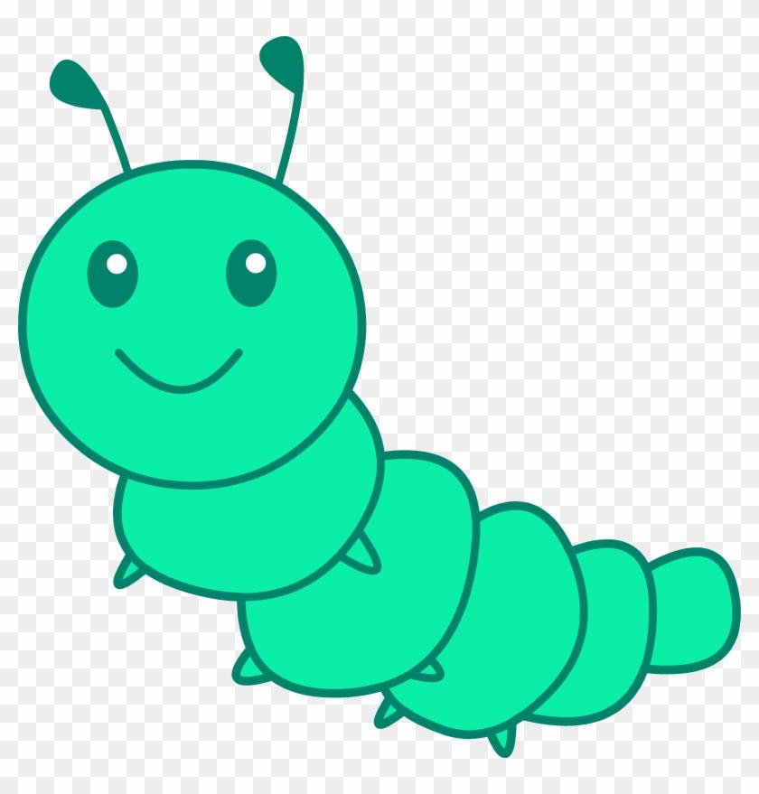 Cute Little Green Caterpillar - Cute Caterpillar Cartoon #7952