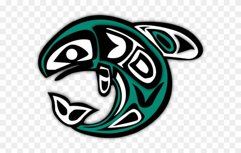 Native Salmon Clipart - Native American Salmon Symbol #7971