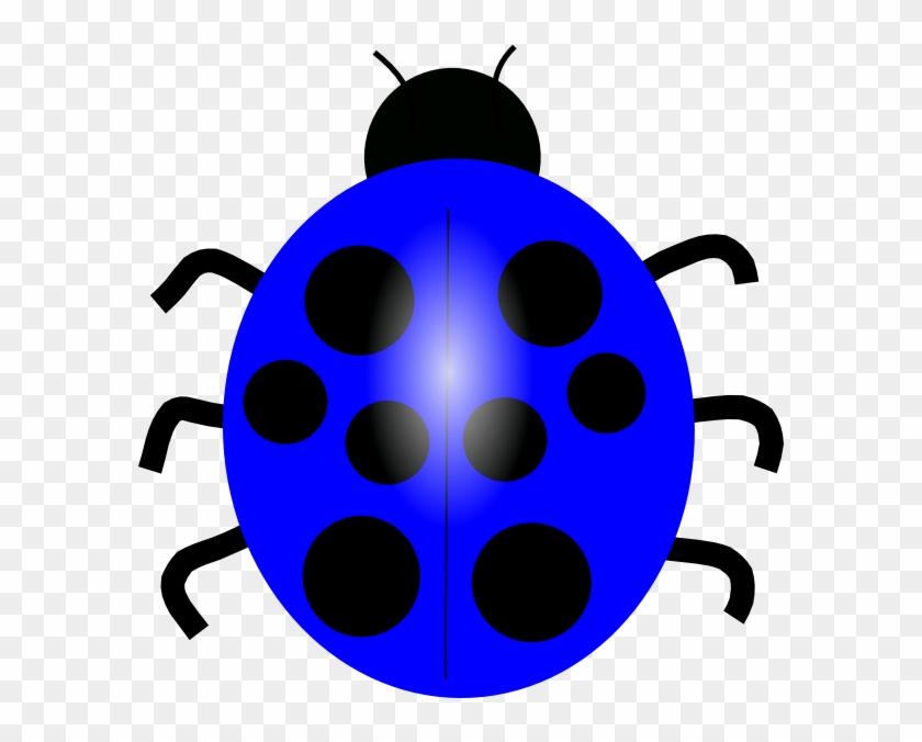 Dark Blue Ladybug Clip Art - Blue Lady Bug Cartoon #7976