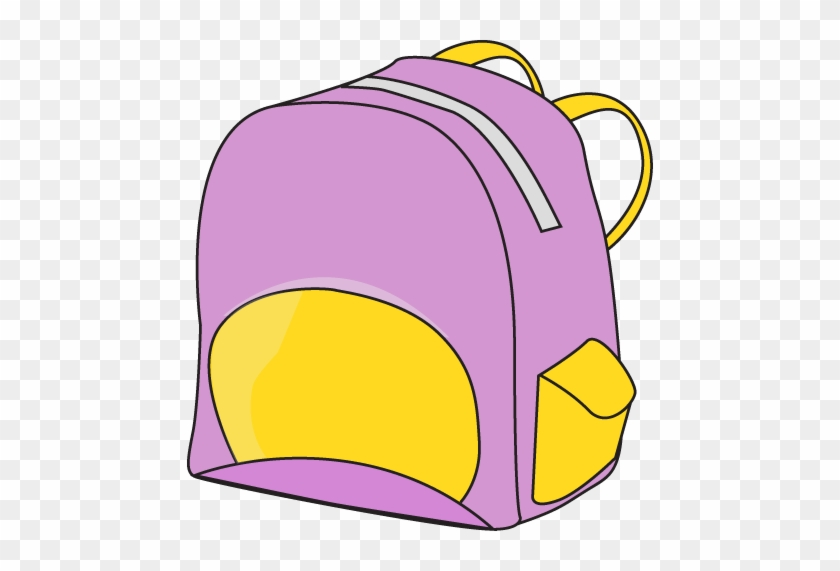Purple Backpack - Clipart School Supplies #8000
