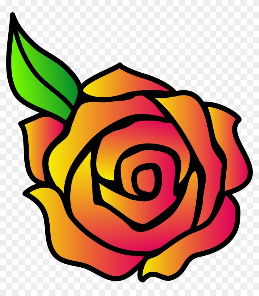 Cartoon Yellow Rose Images Pictures - Simple Rose Drawings #8052