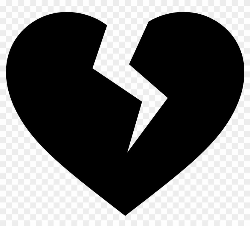Heart Black And White Heart Black And White Heart Clipart - Black Broken Heart Png #8048