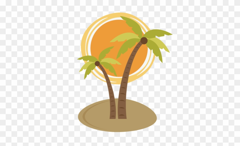 Palm Tree With Sun Svg - Palm Tree And Sun #8060
