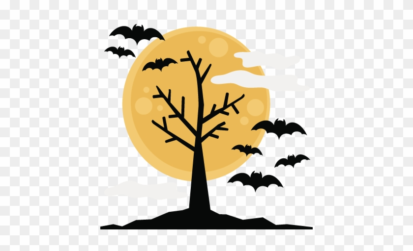 Halloween Tree Svg Cutting Files Halloween Svg Cuts - Halloween Transparent Background Clipart #8068