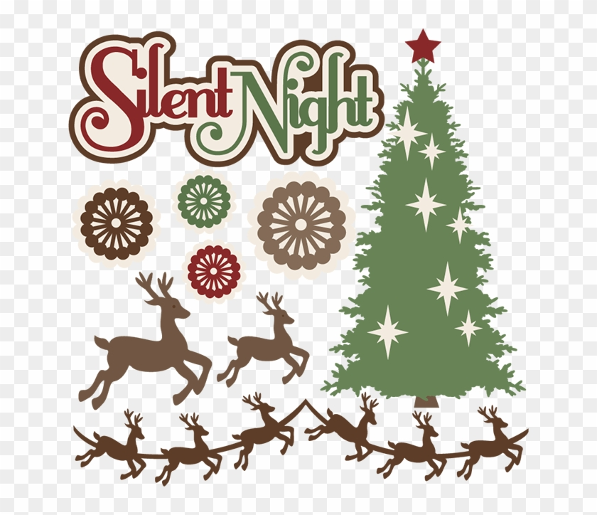 Silent Night Svg Cutting Files Christmas Svg Cuts Christmas - Christmas Day #8073