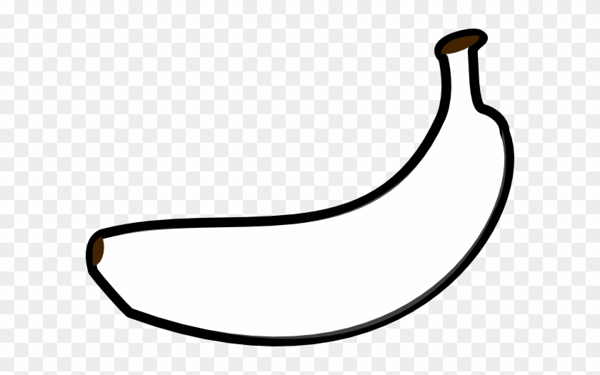 Banana Outline Clip Art At Clker Com Vector Online - Outline Of A Banana #791