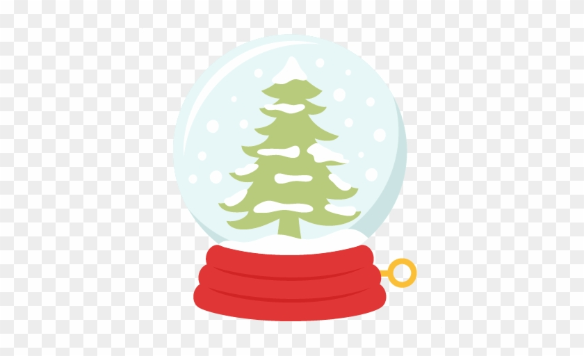 Winter Tree Snow Globe Svg Scrapbook Title Winter Svg - Scalable Vector Graphics #8075