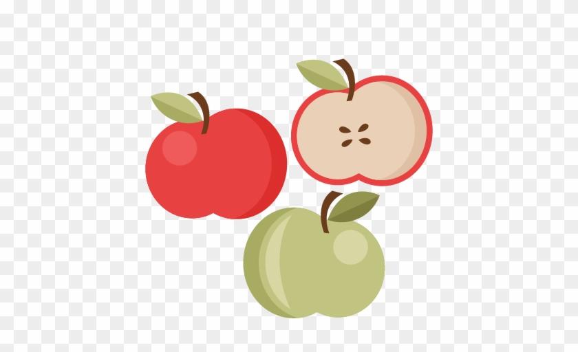 Apple Set Svg Cutting Files Apple Svg Cut File Cute - Miss Kate Cute Apple Set Clipart #8115