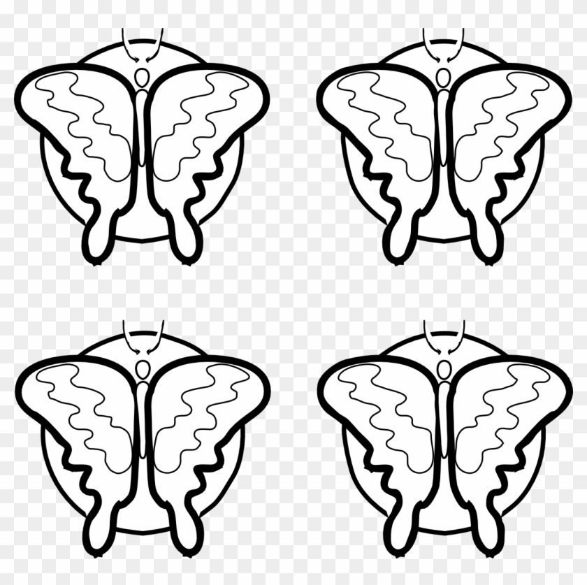 Other Popular Clip Arts - 4 Butterfly Clipart Black And White #8126