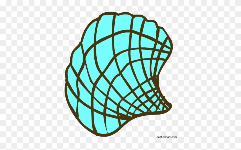 Seashell In Aqua Color Clip Art Image - Seashell In Aqua Color Clip Art Image #8145