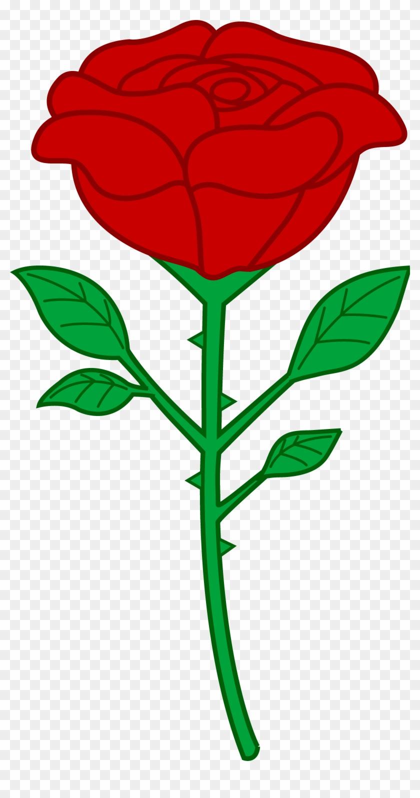 Petal Clipart Rose Stem - Cartoon Rose #8163