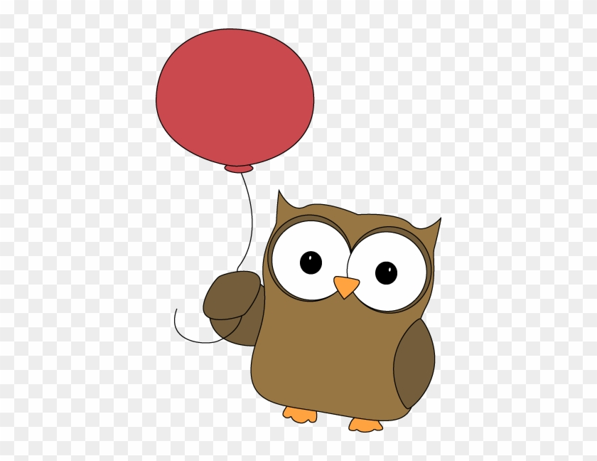 Owl Carried Away By Balloon - Owl Clipart #8179