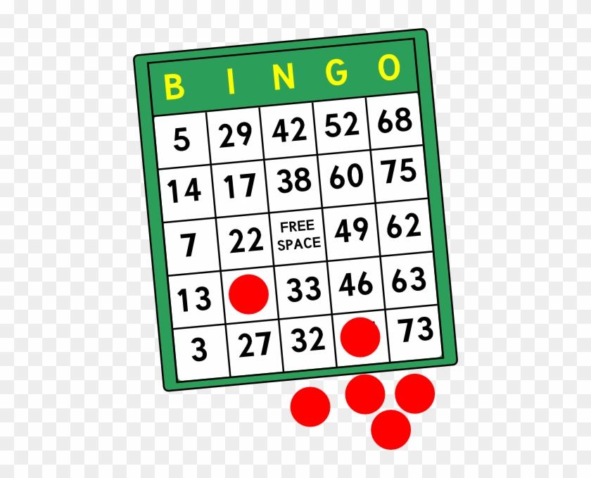 Bingo Cards Clip Art At Clker - Bingo Clipart Free #8185
