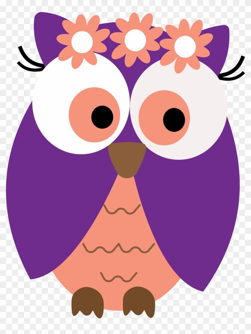 Ch B *✿* Graduation Owls Owl Card Clipart Free Clip - Flower Owl Clipart #8194