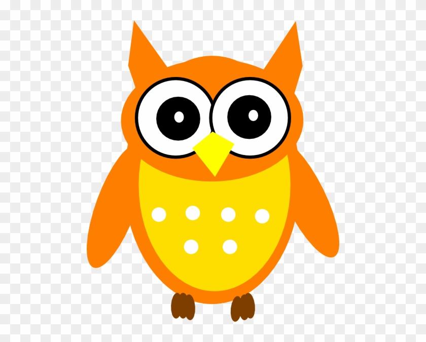 Orange Owl Clip Art - Orange Owl Clip Art #8218