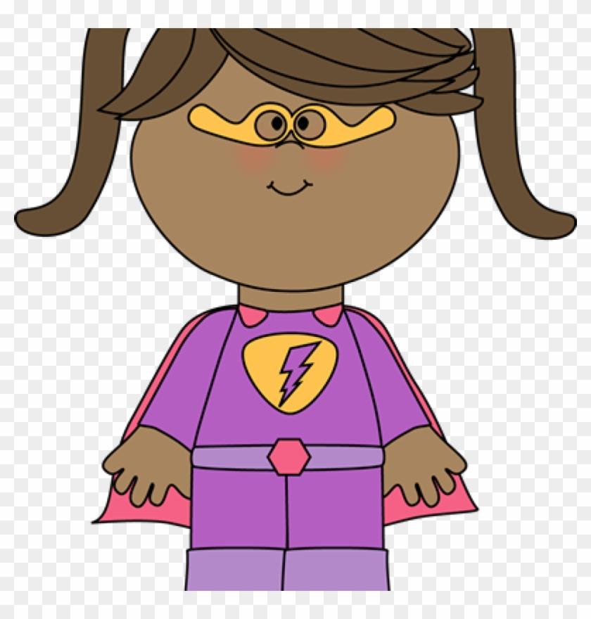 Superhero Kids Clipart Superhero Clip Art Superhero - Clipart Girl #8228